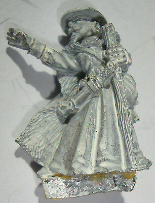 Tsr Wizard 1985 White Metal Miniature Dungeons & Dragons Fantasy Citadel Rare
