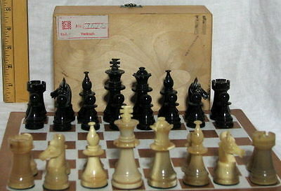 Vintage West German Horn Chess Set