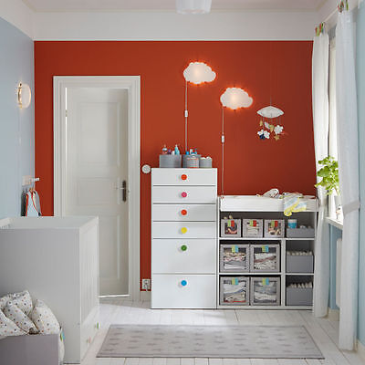 IKEA- DROMSYN- Children/ Kids Wall Lamp Cloud Shaped Light-