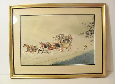 Russell Rutledge Waterhouse R.R Watercolor Painting Drawing Southwest Stagecoach