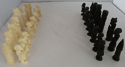 Older  Finely Carved African Chess Set