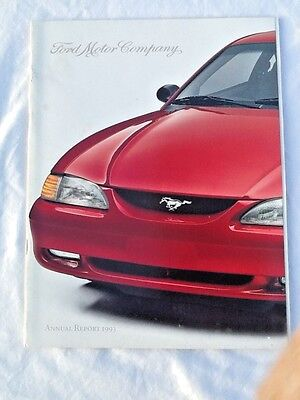 Annual Report - Ford Motor Company - 1993 - 30th Aniversary Mustang Cover