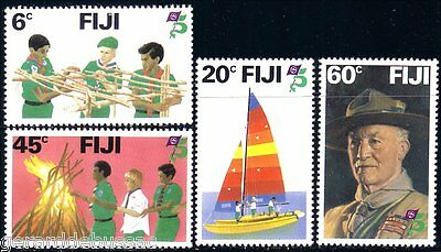 Fiji Scouts Camp Fire Sailing Baden Powell MNH ** (15)