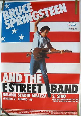 Bruce Springsteen Born In The Usa 1985 Vintage Orig Italy Concert Promo Poster