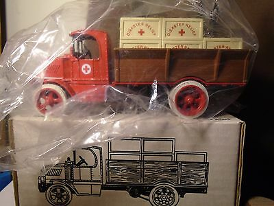 American Red Cross 1926 Mack Crate ERTL Diecast 1/38 Truck Bank  Stock # 7616