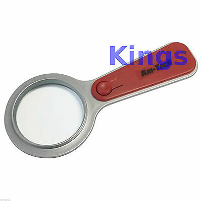 5x Magnifier Glass With LED Light Magnifying Reading Stamps Map Reading Books