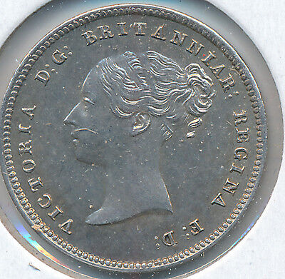 Great Britain Fourpence 1843 KM732 - AU