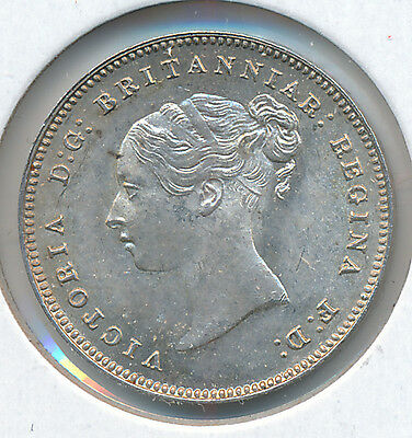 Great Britain Fourpence 1886 KM732 - UNC