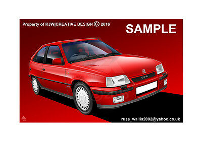 Vauxhall / Opel Astra GTE MK2 A3 Poster Print