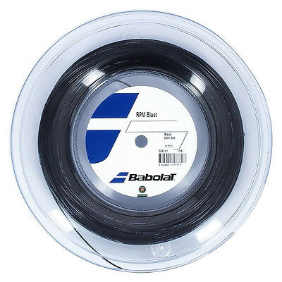 Babolat RPM Blast 16G 1.30mm (black) 660ft 200m Reel Tennis String