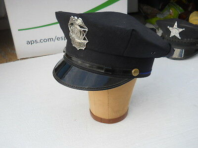Town of Wyoming WISCONSIN  Law Enforcement Police Obsolete Badge Badger Cap