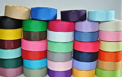 "5/8 ""grosgrain ribbon lot 34 yards(34 colors -1y each) for hair bow,party supply"