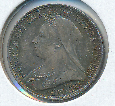 Great Britain Fourpence 1901 - AU