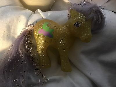 Vintage My Little Pony G1 Napper With Gold Tincil
