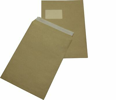 1000 st Envelopes Din A4 C4 Brown with Window Self-Adhesive Envelopes Hk