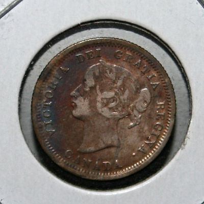 1858 Canada Victoria 5 Cents, First Year of Issue - [06LA]