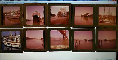 ORIGINAL 1959 Slides Japanese ship boats San Francisco, Large format