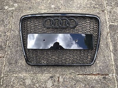 Audi A6 C6 RS6 Style Front Grill Grille S6 Black Edition 2004-2011 **UK STOCK**