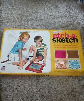 Boxed Vintage Denys Fisher Etch-A-Sketch 1970 *full Working Order*