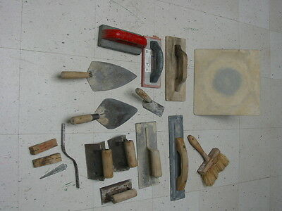 Masonry Hand Tools Lot of 14~ Float,Trowels + for Concrete Brick ~Marshalltown +