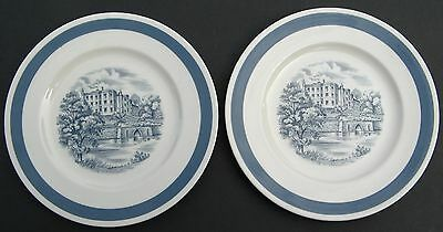 "Alfred Meakin ""stately Homes - Plas Newydd"" (2) 7.75"" Side Plates Staffordshire"