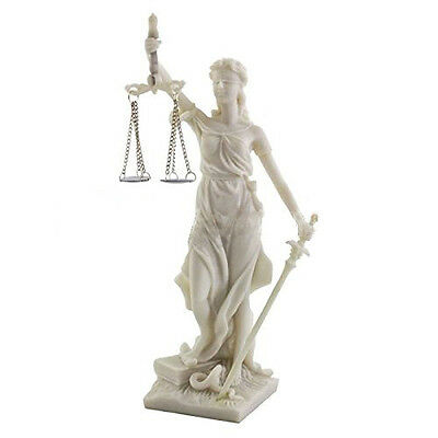 "8"" Lady of Justice Statue Greek Goddess Rome Statue Sculpture Divine Law"