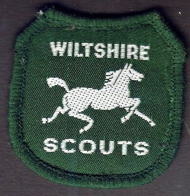 Boy Scout 3 Patches England Wiltshire Embroidered 90Th Anniv. North-West Wilts
