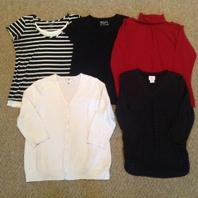 Casual maternity Top Bundle - Size L (Motherhood, Oh Baby, Etc. - 5 Pieces)