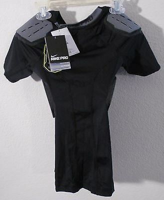 NWT Nike Hyperstrong Core Boys Big Kids 4-Pad Football Top Black MSRP$50