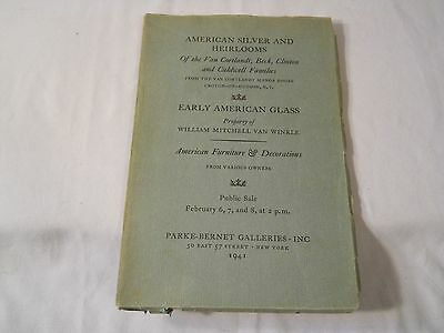 American Silver And Heirlooms Parke-Bernet Galleries Inc 1941