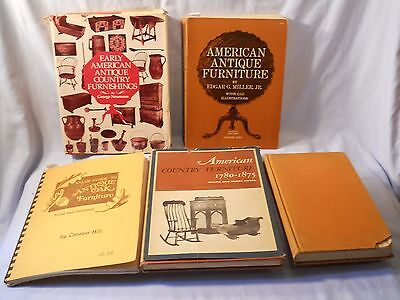 American Antique Furniture ,,oak Antiques Book Lot Of 5