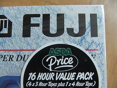 4 X E180, 1 x E240 Fuji SD BLANK NEW VHS tapes (Total 16 hrs)