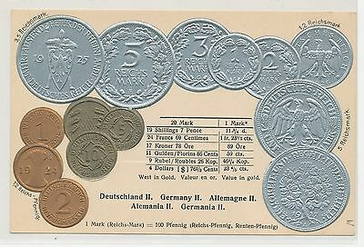 Germany - Embossed Coins Postcard - Walter Erhard