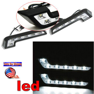 2X MERCEDES-BENZ STYLE DRL DAYTIME RUNNING 6 LED LIGHTS KIT CHROME Fog light