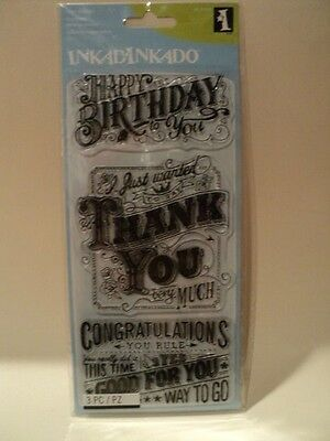 Inkadinkado Clear Stamps - Express Yourself Bnip *look*