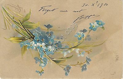 Cartolina - Postcard - Illustrata Klein - Innamorati - Forget me not - 1901