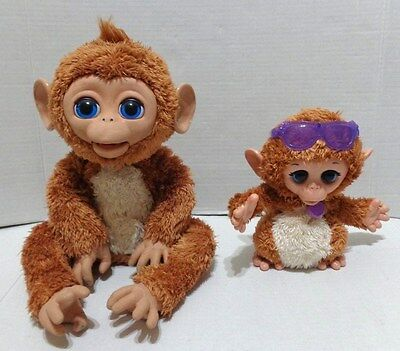 Hasbro Furreal Friends Cuddles My Giggly Monkey & Baby Lot of 2