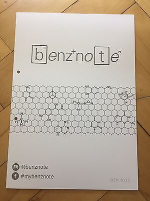 benznote 2-pack 40 pages organic chemistry medicine pharmacy students notesheet