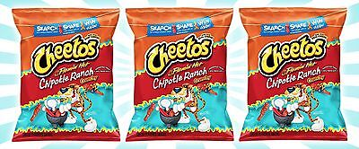 x3 Cheetos Flamin' Hot Chipotle Ranch Crunchy Cheese Snacks Chips LE 3.5 OZ