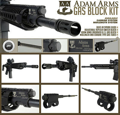 Madbull Adam Arms gas block kit for airsoft M4/AR15 (carbine-length)
