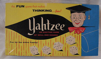 Yahtzee Game ~ 1961 Vintage ~ Complete Plus 2 Extra Boxes of Score Pads
