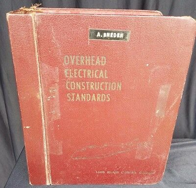 Vintage Long Island Lighting Company OVERHEAD ELECTRICAL CONSTRUCTION STANDARDS