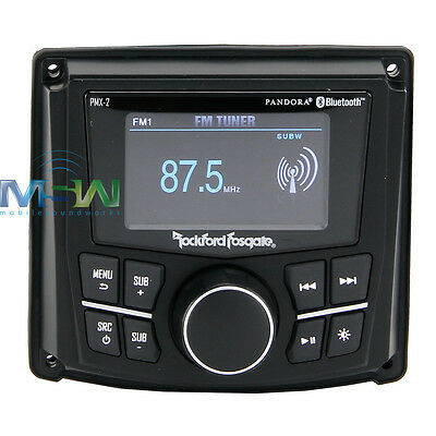 "Rockford Fosgate Pmx-2 Marine Audio 2.7"" Display Digital Media Marine Receiver"