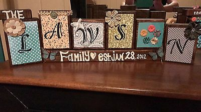 Personalized Wooden Signs- hand cut and stained wood w/your choice of lettering
