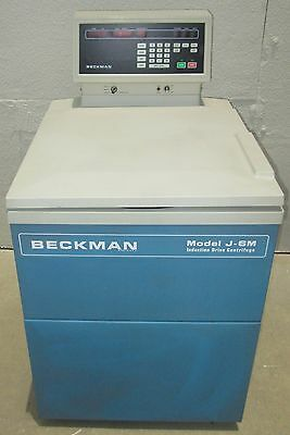Beckman J-6M Induction Drive Refrigerated Centrifuge + 6-Place Rotor + 6 Buckets