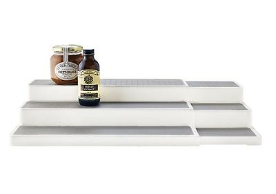 Expandable Shelf Organiser Kitchen Cupboard Storage Space Saver 3 Tier Stacking