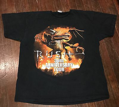 Rush Large 2004 Concert Tour T Shirt 30th Anniversary