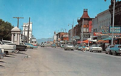 Dillon, MONTANA ~1960's Street Scene ~ Big Dipper Ice Cream, Mitchell Drug~cars
