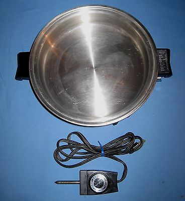 VTG SALADMASTER SKILLET Stainless Steel Electric Skillet Oil Core Waterless 781