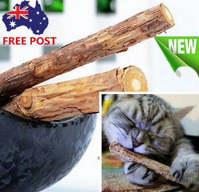 Stick Treat Molar Polygama Natural Pet Cat Matatabi Toy Chew 1 Bag 2PC Catnip AU